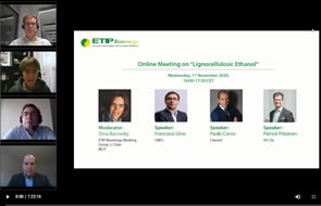 "Online Meeting on ""Lignocellulosic Ethanol"" -  Presentations and Recording Available"