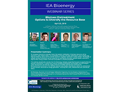 IEA International webinar Biomass Pretreatment – Options to Diversify the Resource Base – April 25th 2019