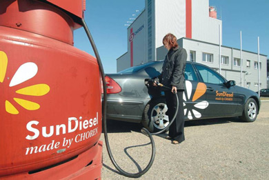 SunDiesel® demonstration fuel station at Choren BTL plant