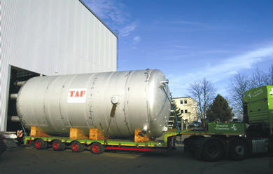 Choren BTL plant - reactor being delievered